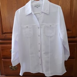 3/4 Sleeve Southern Lady XL Button Down Blouse